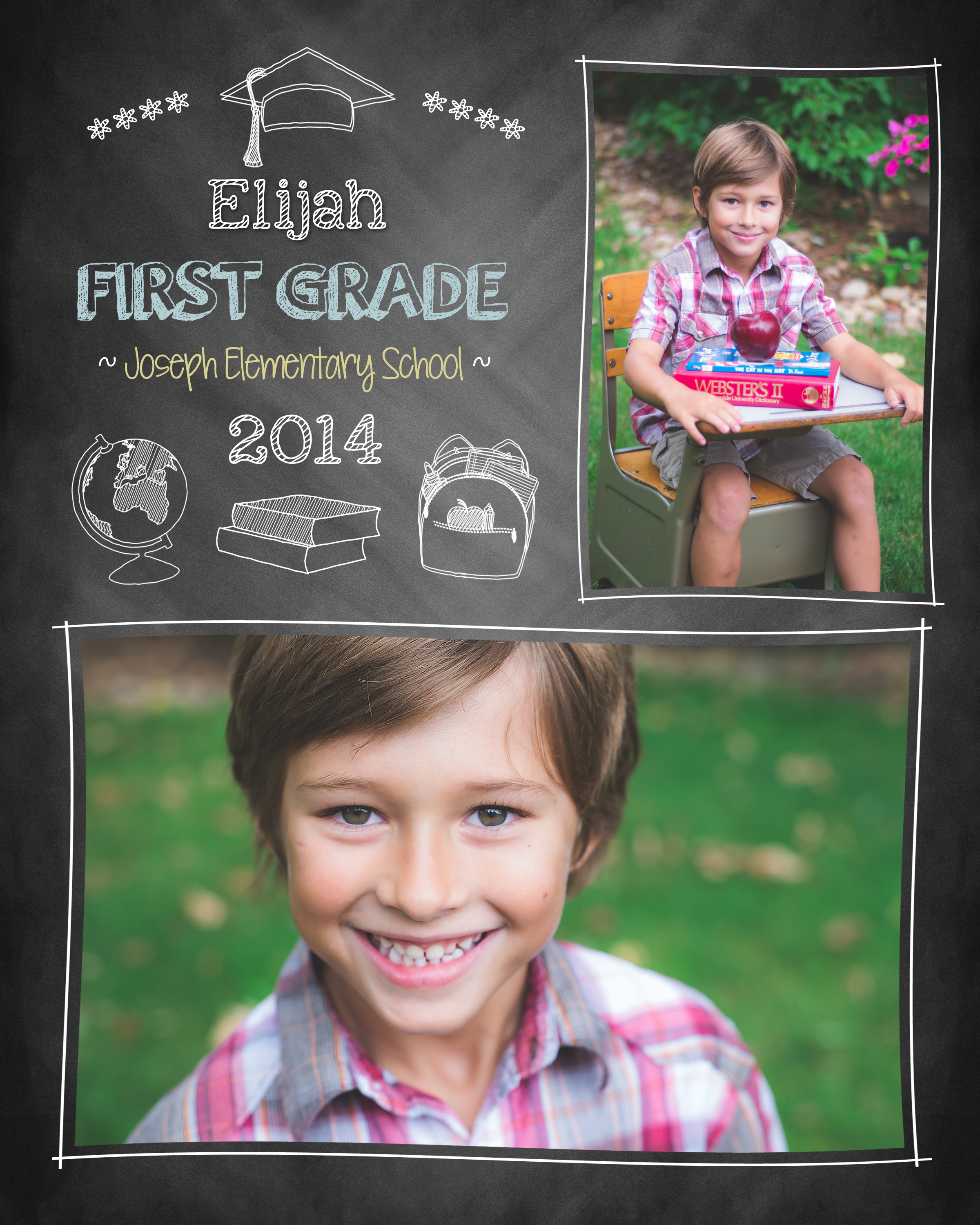 Back to School Collage - Thalyta Swanson Photography